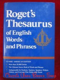 Roget's Thesaurus of English Words and Phrases(Classic American Edition)罗杰特英语单词和短语词库(经典美国版 英语原版 精装本)