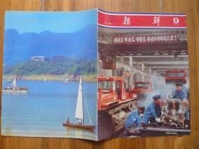 《朝鲜》画报1980年9期·金日成出席全国地方工业工作者大会,金刚山景点5