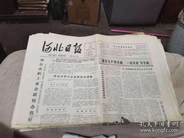 原版老报纸:河北日报1981年4月13日