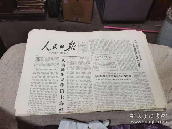 原版老报纸:人民日报1981年4月19日