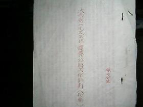 (1953年)河北省大名县一九五三年护养公路工作计划(初稿)