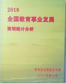 全国教育事业发展简明统计分析2018 2011 2010年份多