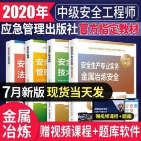 备考2021版全国中级注册安全工程师考试教材-金属冶炼安全+安全生产管理+技术基础+法律法规(共4本)