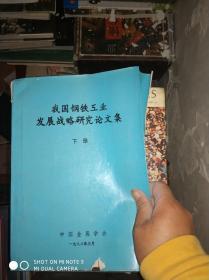 我国钢铁工业发展战略研究论文集 下