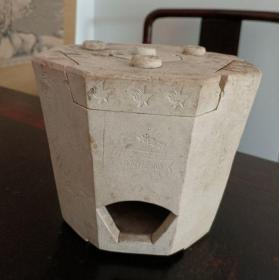 老白泥小茶炉,有磕。