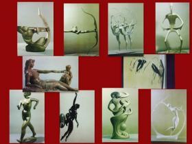 【八十年代明信片】 体育雕塑明信片 带封壳 10全