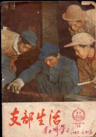 《支部生活(北京)》1965年第13期【封面彩照为石钢炼钢厂刘瑞田彩色照片,封底彩照为平谷线门楼庄公社南宅大队团支部书记侯书田。封二封三为白求恩照片。品如图】