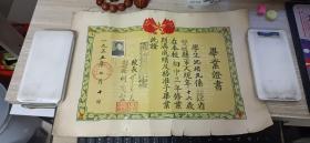 毕业证书 1955 双城县兆麟中学