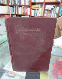 A SHORT HAND-BOOK OIL ANALYSIS(宣统三年)