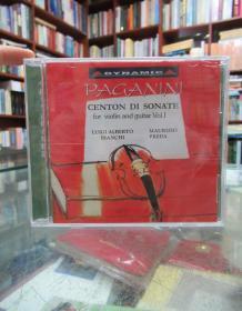 CD:小提琴与吉他音乐精选 paganini genton di sonate for violin and guitar Vol.Ⅰ