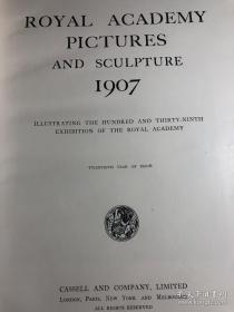 【包邮】1907年出版 Royal Academy Pictures