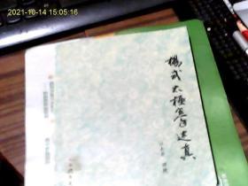 杨式太极拳述真【有笔划痕,字迹】