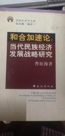 和合加速论:当代民族经济发展战略研究