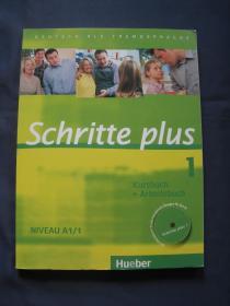 Schritte plus 1 A1 德语学习练习教材 附CD 德国2009年印刷 德文原版 彩色印