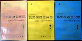 历史在这里沉思——1966-1976年记实(1-3册)(1986年一版一印,自藏,品相85品)