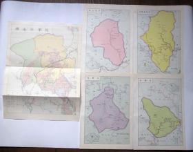 【1991年】北京市房山区街道、乡镇地名图(36张合售 16开)详见图片
