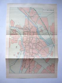 【1991年】北京市房山区城区街巷图、区划图(2张合售 8开)详见图片