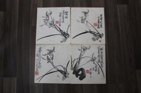 李亚(国画院画家,一级美术师,美协会员)四幅合售,尺寸(27,24)