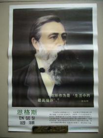 马克思主义创始人恩格斯画像