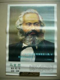 全世界无产阶级的伟大导师和领袖马克思画像