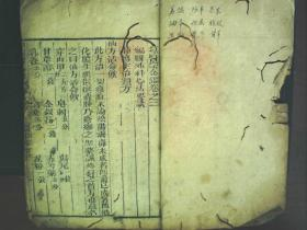 C572,清精刻本医学古籍:医宗金鉴,大开本线装一册卷2外科心法要诀,刻印不错