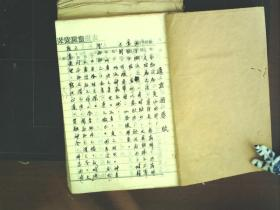 C571,精美手抄针灸医学,解放后手抄本:针灸集成,线装2册合订一巨厚册,大量针灸理论内容,字体漂亮,虽为70年代左右抄本,仍有价值
