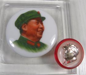 精品㊣■毛主席像章--面向右■--稀少