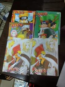火影忍 者 DVD5张光盘