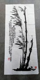 碑拓拓片 【板桥风竹】宣纸拓片,原石愿拓。全手工拓 。字迹清晰 尺寸128cmx56cm
