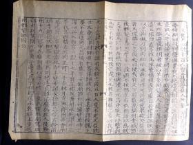 明嘉靖十年补刊《唐书》散页一张(著名史书经典、镌刻古雅、在册善本,是非常好的明代版刻和竹纸标本)