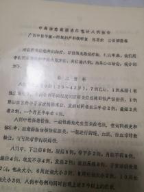 妇科研讨会油印资料【中药治愈盆腔炎症包块八例报告】