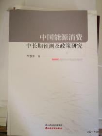 中国能源消费中长期预测及政策研究