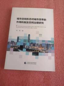 城市空间形态对城市效率的作用机制及空间治理研究
