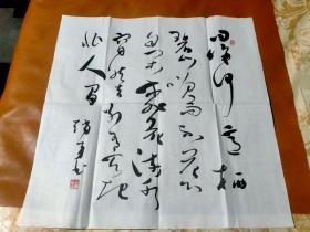 【2392】《中国书法家协会会员.陇西县书协副主席 张勇 书写宣纸书法斗方》钤印