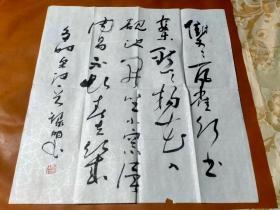 【2360】《甘肃省定西市 吕利民 书写宣纸书法斗方》钤印