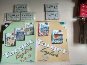 LONGMAN朗文:Target Eng eish 1 2 3 4 5(五本厚册)+ 对应(薄册)1两本、2两本、3两本、4两本、5两本 + 磁带(5盒)
