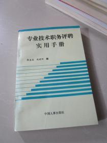 专业技术职务评聘实用手册