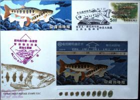 邮政用品、信封、樱花钩吻鲑自然生态邮票文物展首日封,带一枚樱花钩吻鲑磁卡