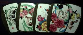 日历、年历,1979年北京市日历厂年历年一套5全,带封套、异型、工艺品、小猫