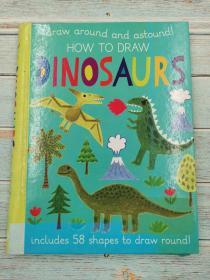 draw around and astound how to draw dinosaurs