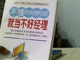 不懂POWERPOINT就当不好经理:演示文稿设计方法与范本示例大全