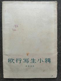 活页画册 沈柔坚作《欧行写生小辑》12张全 1962年1版1印