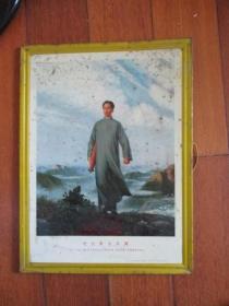 文革铁皮画像《毛主席去安源》