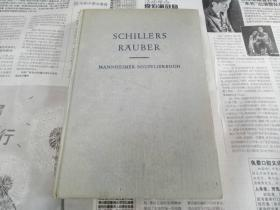 """罕见德国原版印制戏剧论著""""席勒的强盗""""《SCHILLERS RÄUBER》"""
