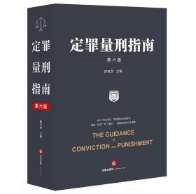 2021 定罪量刑指南:第六版 陈有西 法律出版社