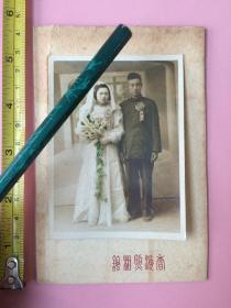 照片,彩色美女结婚照