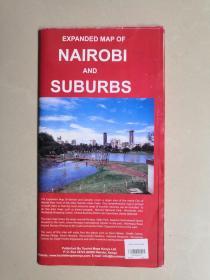 外国地图 EXPANDED  MAP  OF NAIROBI  AND SUBURBS(东非肯尼亚首都内罗毕和郊区扩展图)