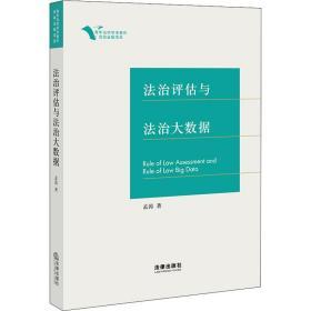 正版 法治评估与法治大数据孟涛中国法律图书有限公司法律