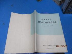 贵州各时代地层分区图及对比简表    10-1号柜