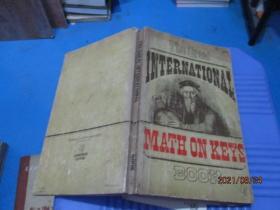 THE GREAT INTERNATIONAL MATH ON KEYS BOOK  有字迹 品如图  3-5号柜